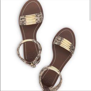 Tory Burch Snake Print sandals